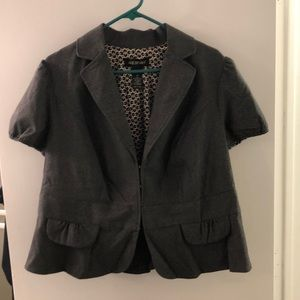 Lane Bryant Short Sleeve Fitted Jacket